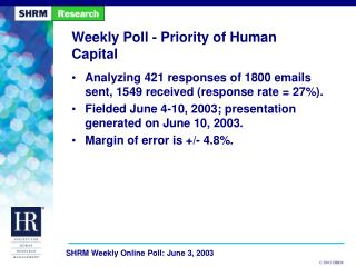 Weekly Poll - Priority of Human Capital
