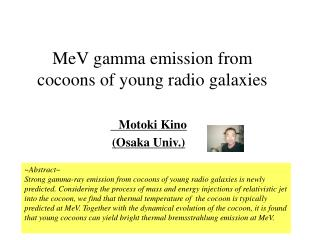 MeV gamma emission from cocoons of young radio galaxies