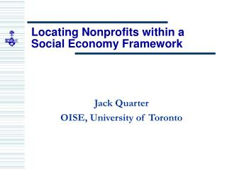 Locating Nonprofits within a Social Economy Framework