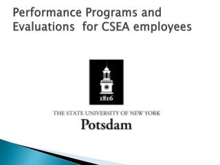 Performance Programs and Evaluations  for CSEA employees