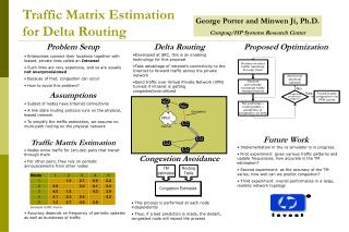 Traffic Matrix Estimation for Delta Routing