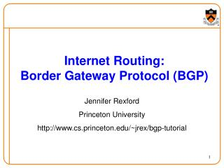 Internet Routing: Border Gateway Protocol (BGP)