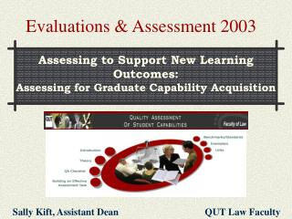 Evaluations & Assessment 2003