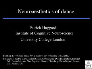 Neuroaesthetics of dance