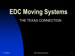 EDC Moving Systems