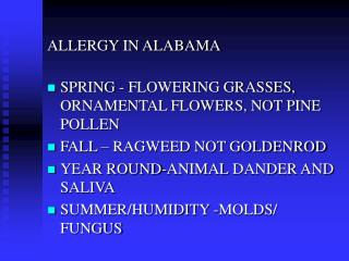 ALLERGY IN ALABAMA