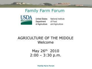 Family Farm Forum