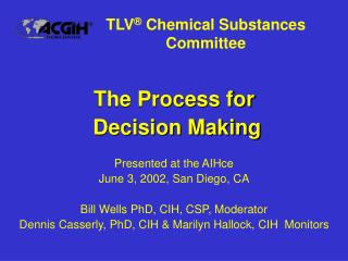 TLV ®  Chemical Substances Committee