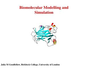 Biomolecular Modelling and Simulation