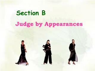 Judge by Appearances