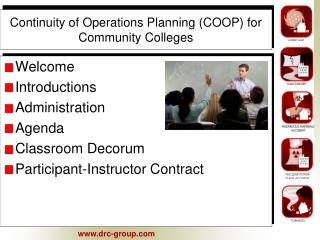 Continuity of Operations Planning (COOP) for Community Colleges