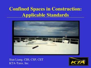 Confined Spaces in Construction: Applicable Standards