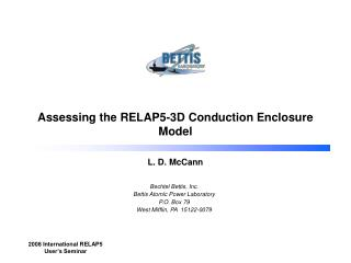 Assessing the RELAP5-3D Conduction Enclosure Model