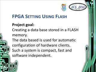 FPGA Setting Using Flash
