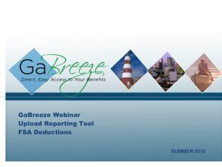 GaBreeze Webinar Upload Reporting Tool FSA Deductions