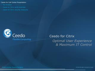 Ceedo for Citrix
