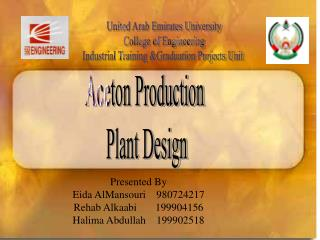 United Arab Emirates University College of Engineering Industrial Training &Graduation Projects Unit