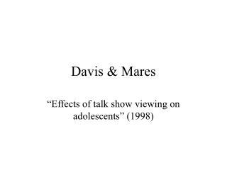 Davis & Mares