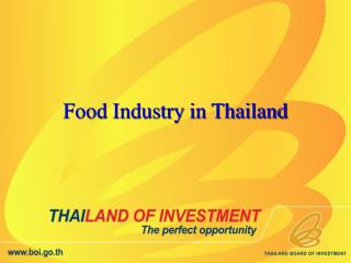 Food Industry in Thailand