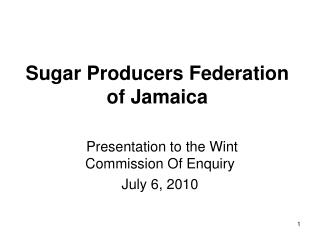 Sugar Producers Federation of Jamaica