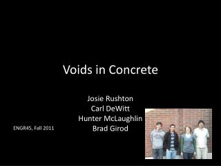 Voids in Concrete