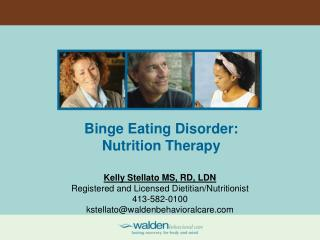 Binge Eating Disorder: Nutrition Therapy