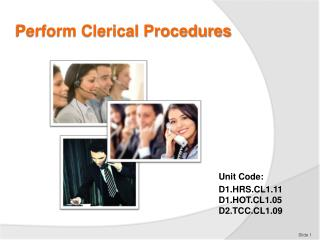 Perform Clerical Procedures