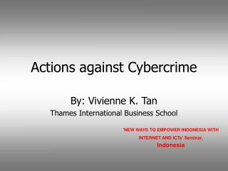 Actions against Cybercrime