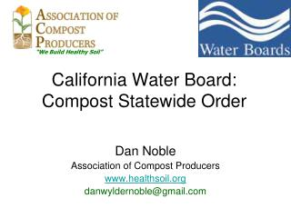 California Water Board: Compost Statewide Order