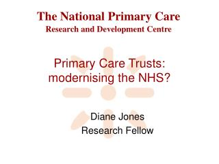 Primary Care Trusts: modernising the NHS?