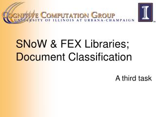 SNoW & FEX Libraries; Document Classification