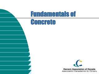 Fundamentals of Concrete