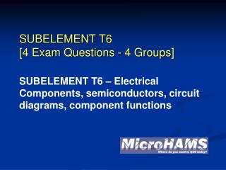 SUBELEMENT T6 [4 Exam Questions - 4 Groups]