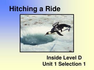Inside Level D  Unit 1 Selection 1