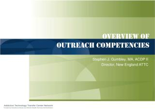 overview of  Outreach competencies