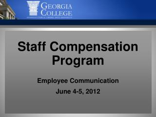 Staff Compensation Program