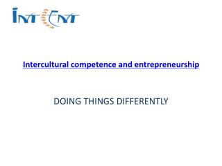 Intercultural competence and entrepreneurship