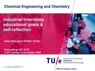 Industrial Internship educational goals &  self-reflection