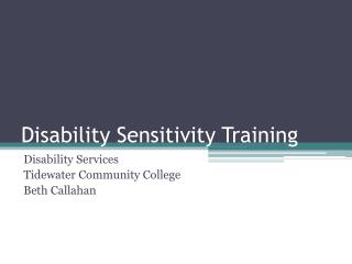 Disability Sensitivity Training