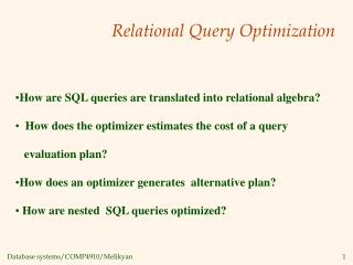 Relational Query Optimization