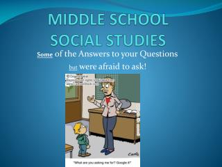 MIDDLE SCHOOL SOCIAL STUDIES