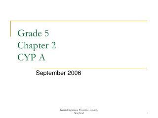 Grade 5 Chapter 2 CYP A