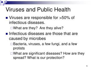 Viruses and Public Health