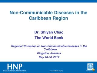 Non-Communicable Diseases in the Caribbean Region