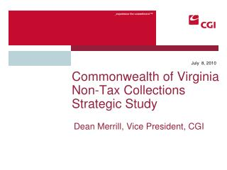 Commonwealth of Virginia Non-Tax Collections Strategic Study