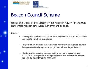 Beacon Council Scheme