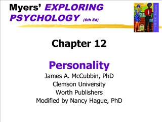 Myers  EXPLORING PSYCHOLOGY  6th Ed