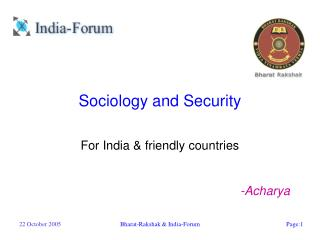 Sociology and Security