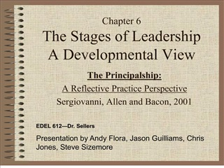 Chapter 6 The Stages of Leadership A Developmental View