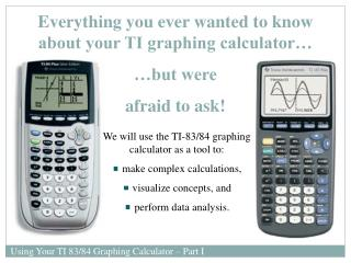 Everything you ever wanted to know about your TI graphing calculator… …but were  afraid to ask!